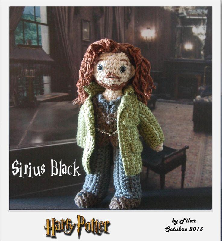 Amigurumi Harry Potter : #amigurumi Sirius Harry Potter Hakeley Pinterest