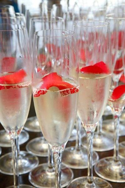 rose petal champagne | Wedding Bliss | Pinterest