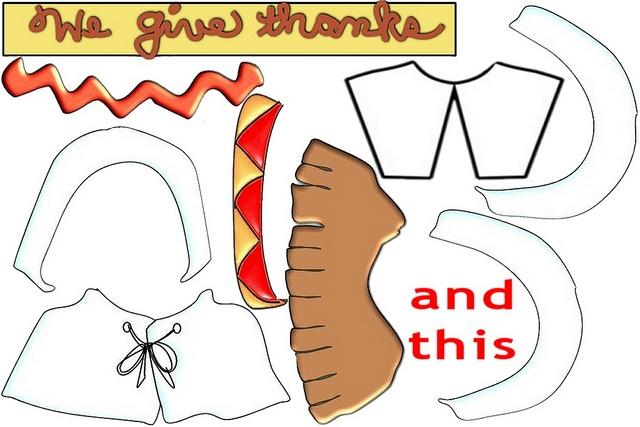 Thanksgiving Placemat Craft pattern - girls