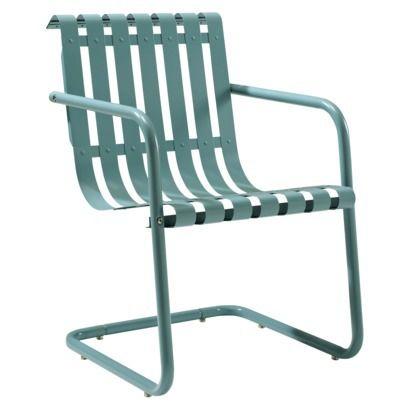 Gracie Metal Retro Patio Spring Chair  furniture outdoor  Pinterest