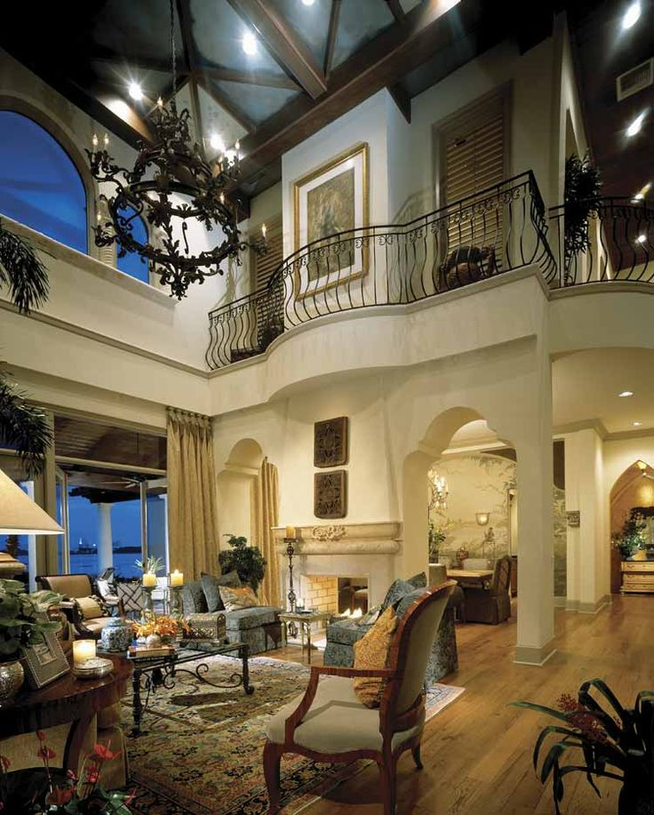 2 story living room with balcony home sweet home pinterest for Room with balcony