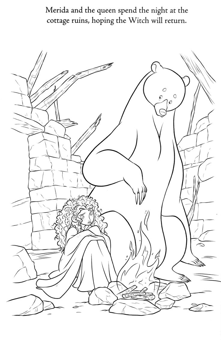 Best Images About Coloring Pages Lineart Disney Brave