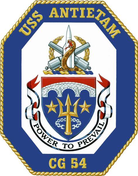 uss antietam cg54 crest us navy pinterest