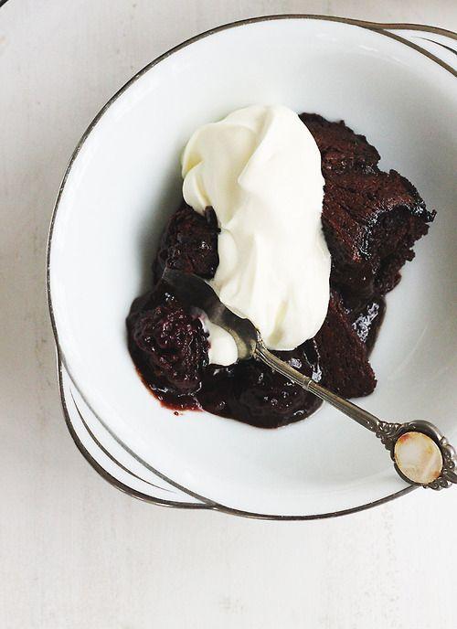Chocolate Blackberry Pudding | Sweet | Pinterest