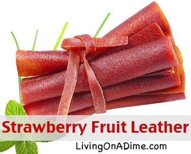 Strawberry Fruit Leather Recipe   Recipes   Pinterest