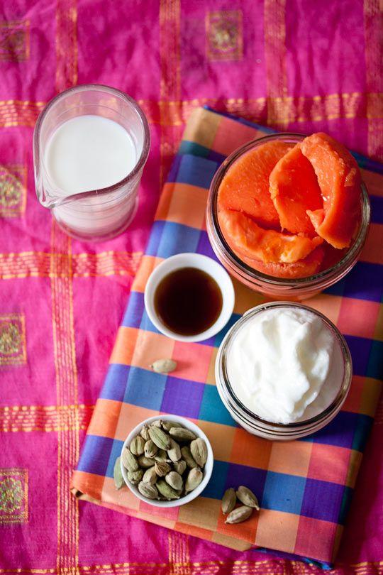Papaya Cardamom Lassi Recipe | Fresh papaya, cardamom, yogurt, whole ...