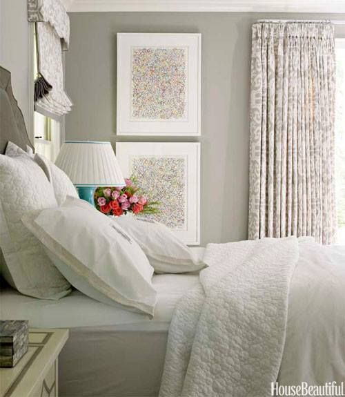 A soothing serene bedroom Indoor spaces
