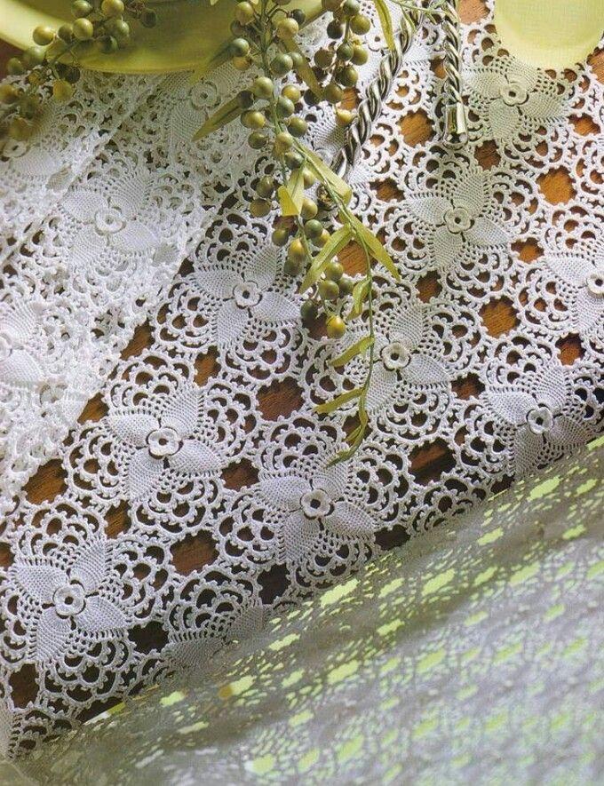 1 of 2 * Motif Tablecloth Pattern