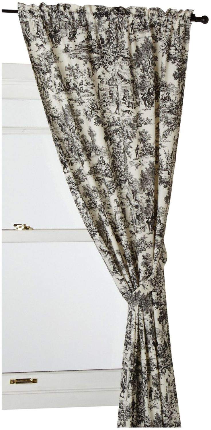 Shower Curtain S Hooks Brown Toile Curtains
