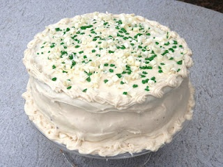 Chocolate Stout Cake with Bailey's Irish Cream Cheese Frosting