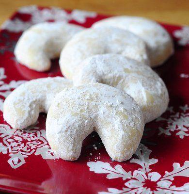 Almond Crescent Cookies by Baking Bites. Vanilla Almond Crescent ...
