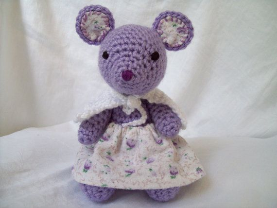 Crochet Mouse Stuffed Animal Toy, Moveable Arms and Legs ...