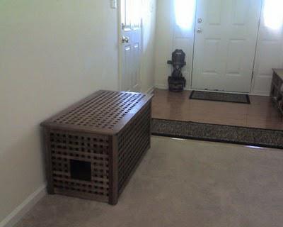 Ikea Bench Hides Litter Box Home Pinterest
