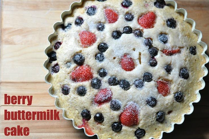 Berry Buttermilk Cake | Yummy Foods | Pinterest