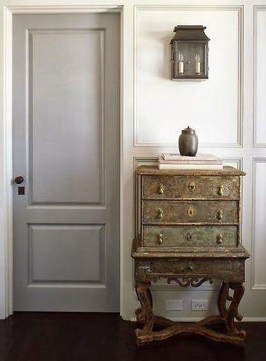 Grey Painted Interior Doors Homey Pinterest