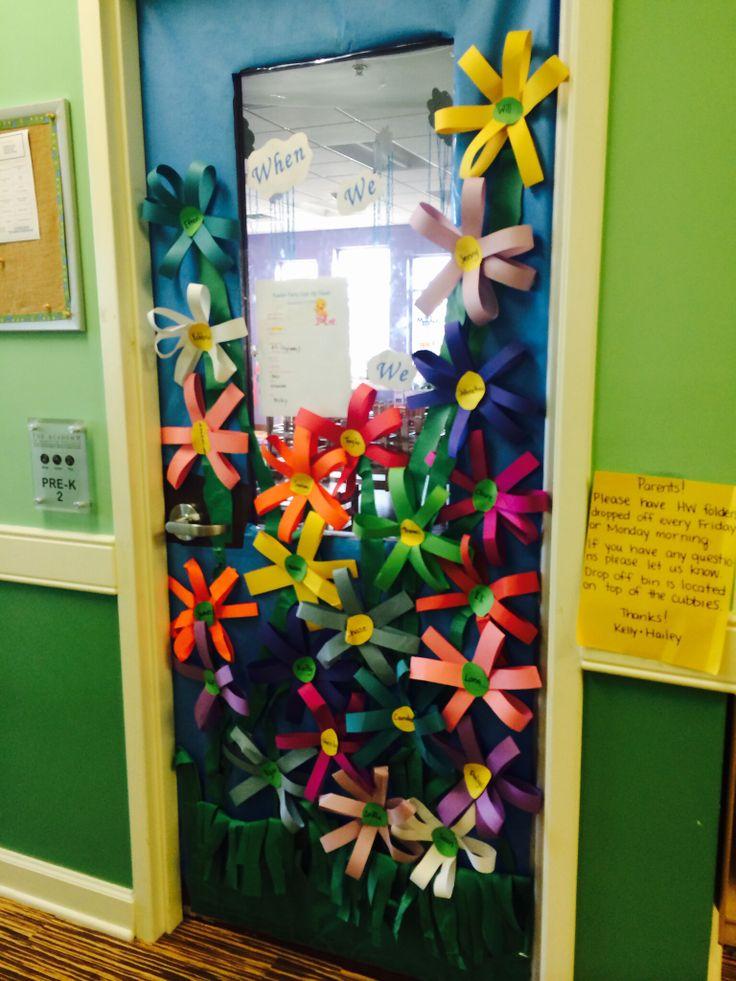 Classroom Door Decor For Spring : Spring classroom door work pinterest