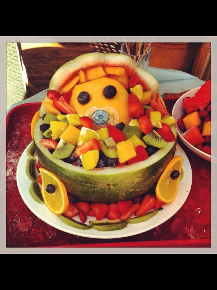 Fruit salad pram. Baby shower idea. | Baby Shower Ideas ...