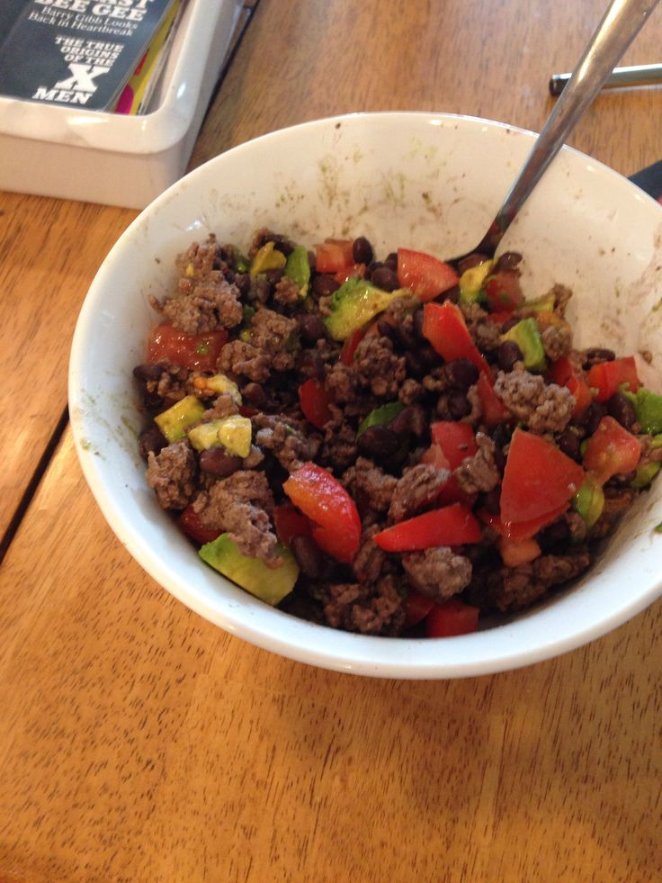 ... with a diced tomato, avocado, and bell pepper. All organic, and paleo