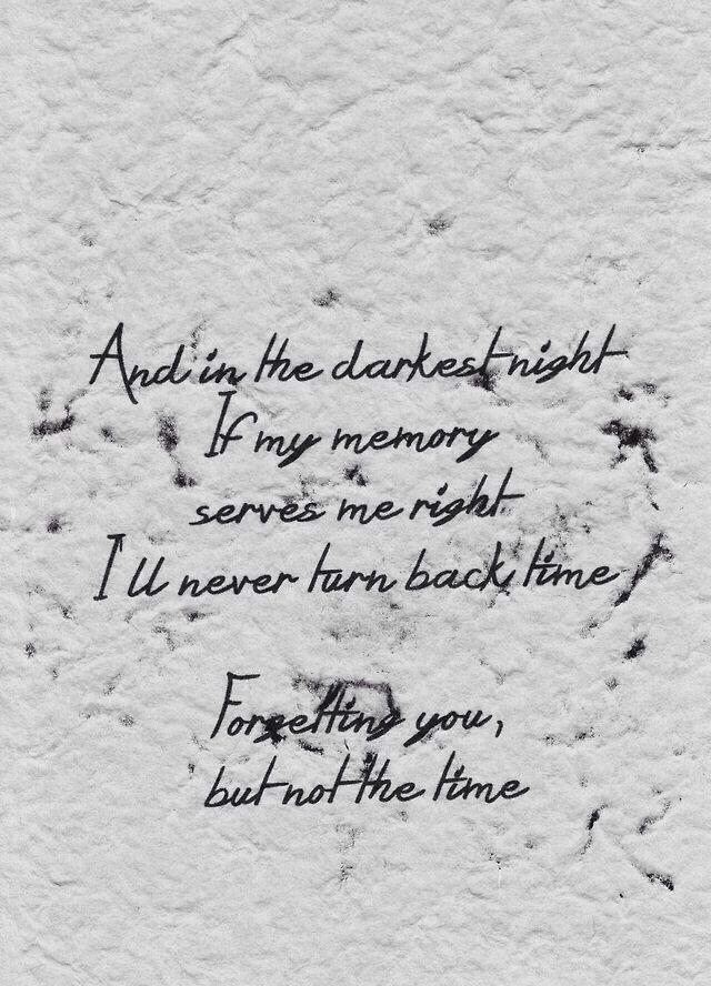 lyric stand good riddance: