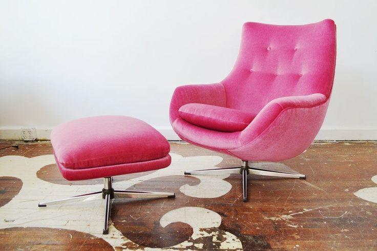 Hot Pink Velvet Chair Nursery Themes Pink Gray Baby