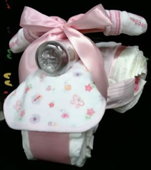 Tricycle diaper cake for baby shower baby shower diaper cakes