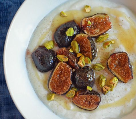 yogurt and honey figs | Recipe link: Honey-Caramelized Figs with ...