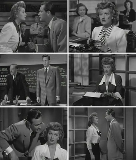 Lucille Ball & William Holden in Miss Grant Takes Richmond (1948).