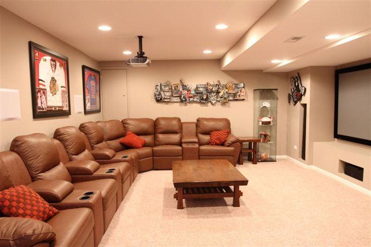 Finished basement rec room house home pinterest for Basement rec room designs
