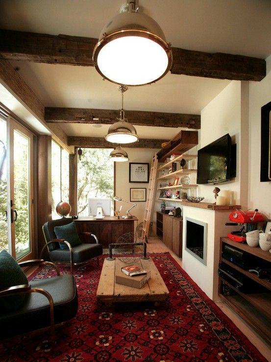 junggesellen wohnzimmer:Home Office Man Cave Ideas