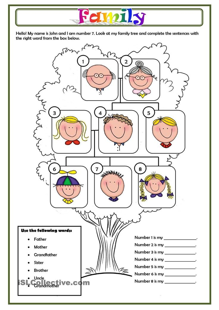 My family tree worksheet pdf