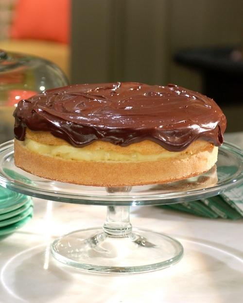 Boston Cream Pie by Martha Stewart Recipes - wonderful cake, modified ...