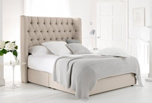 Beige quilted headboard bedframe bed pinterest for Quilted headboards