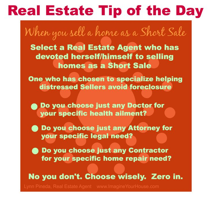 Real Estate Tip Of The Day Selling Home As A Short Sale