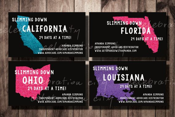 SLIM STATE Advocare Slim Business Card Design by