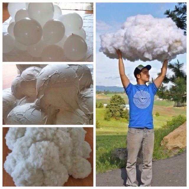 Как сделать облака из ваты на бумаге своими руками 15