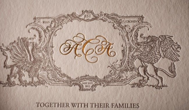 formal wedding invitation, no. 12824 | Boxcar Press letterpress ...