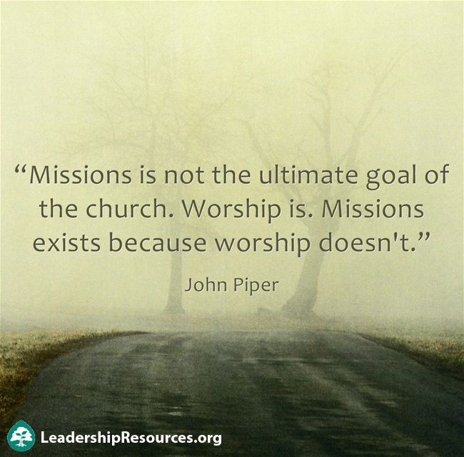 Missions is not the ultimate goal - 60.1KB