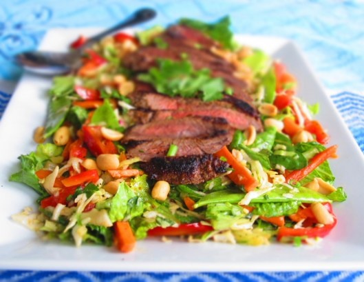Asian Beef Salad with Sesame Orange Ginger Vinaigrette
