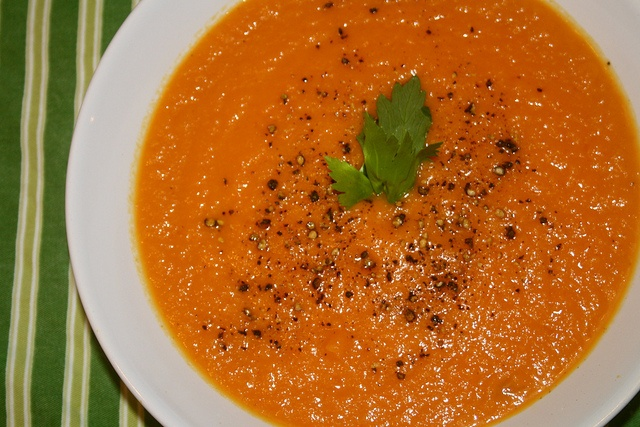 Carrot ginger soup. Read more about cooking with ginger in our April ...