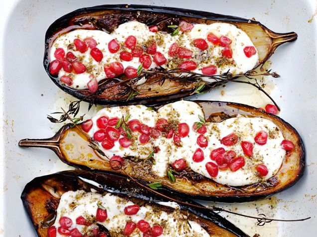 Eggplant with Buttermilk Sauce--recipe from restaurant in the UK serve ...