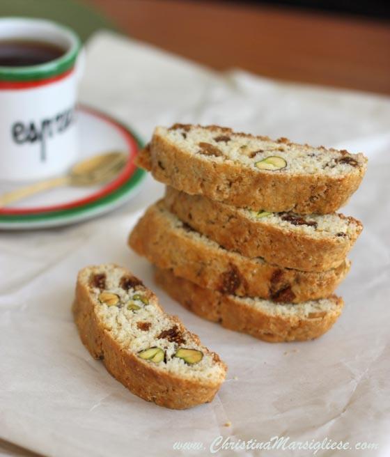 Fig & Pistachio Cornmeal Biscotti | Food | Pinterest