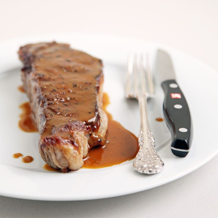 NY Strip Steak With Miso Mustard Sauce | Recipe