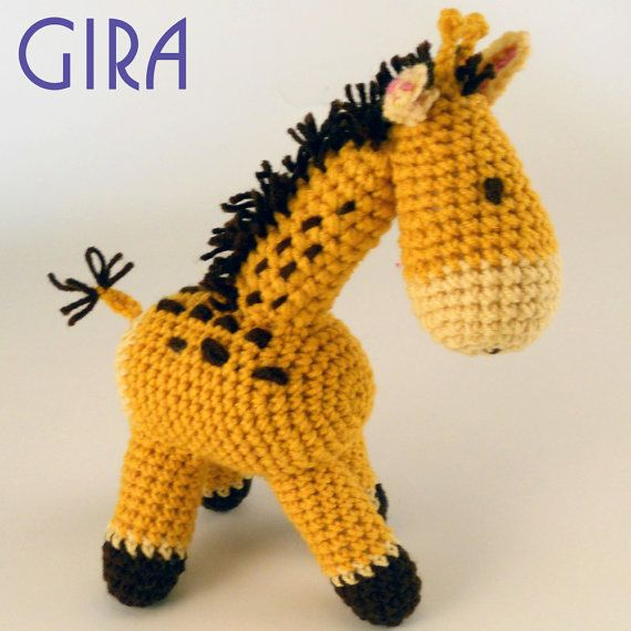 Crochet Giraffe Pattern by REcreationsyarn on Etsy