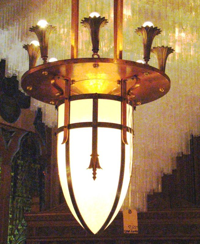 English Arts And Crafts Lighting Chandelier