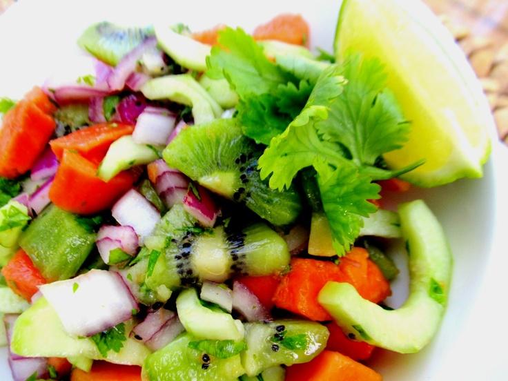 papaya kiwi salsa