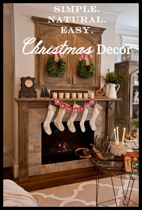 Simple. Natural. Easy Christmas Decor Come see how I transformed my ...