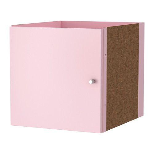 Kallax insert with door light pink - Etagere expedit blanc ...