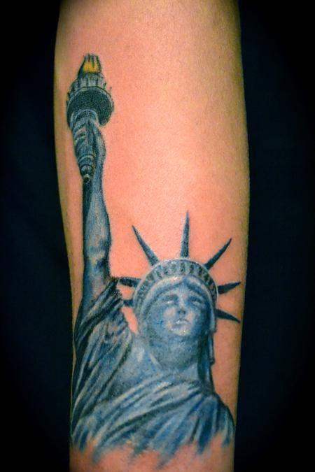 statue of liberty idea back