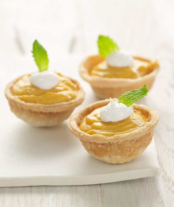 Mini Pumpkin Tarts made with Chobani Greek Yogurt