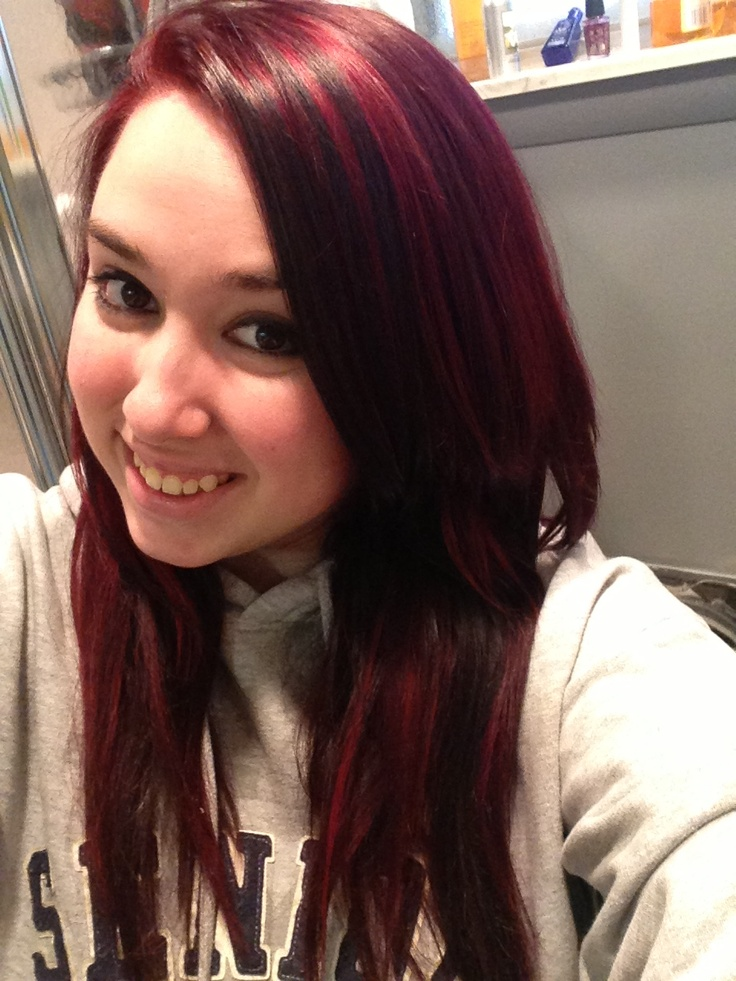 Splat Crimson Hair Color Hairstylegalleries Com